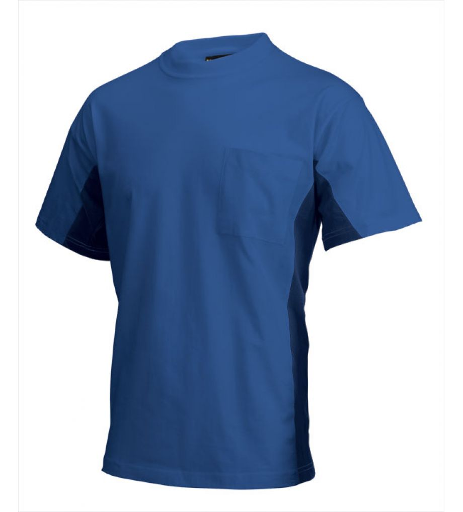 Tricorp t shirt bi color borstzak tr 102002 royal blue for Navy blue color shirt