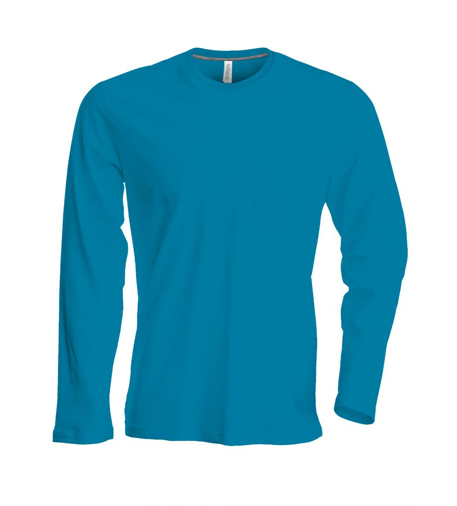 kariban t shirt crew neck ka tok359 tropical blue pb. Black Bedroom Furniture Sets. Home Design Ideas