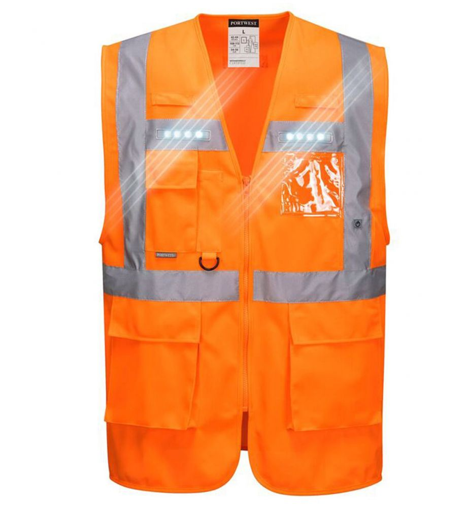 Portwest Hesje met led verlichting (PW-L476) - oranje | PB-Protection.nl