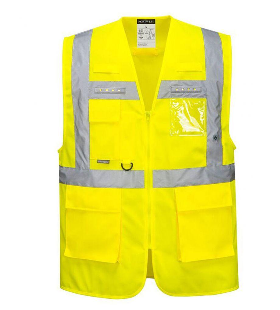 Portwest Hesje met led verlichting (PW-L476) - geel | PB-Protection.nl
