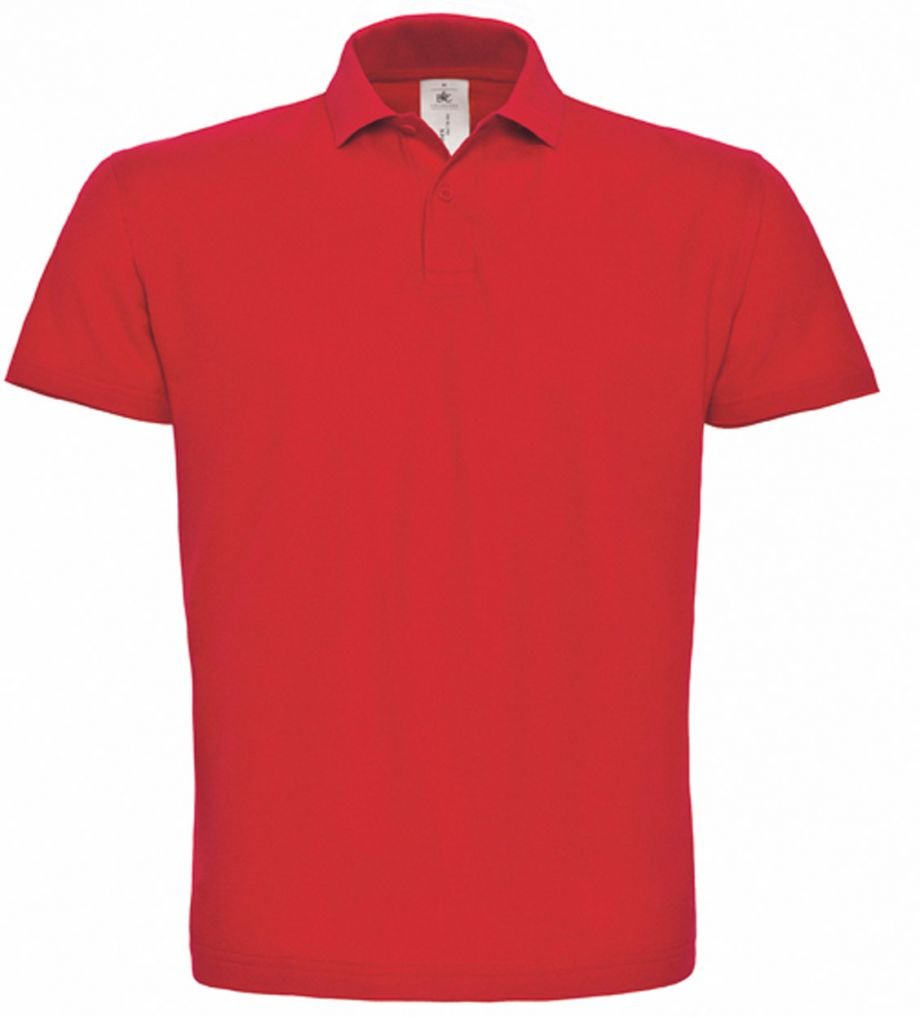 B C Poloshirt (BC-ID.001) - rood  849b5a782c
