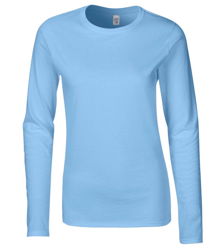 lichtblauw shirt lange mouw dames